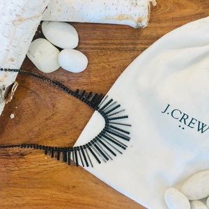 J. Crew black statement necklace